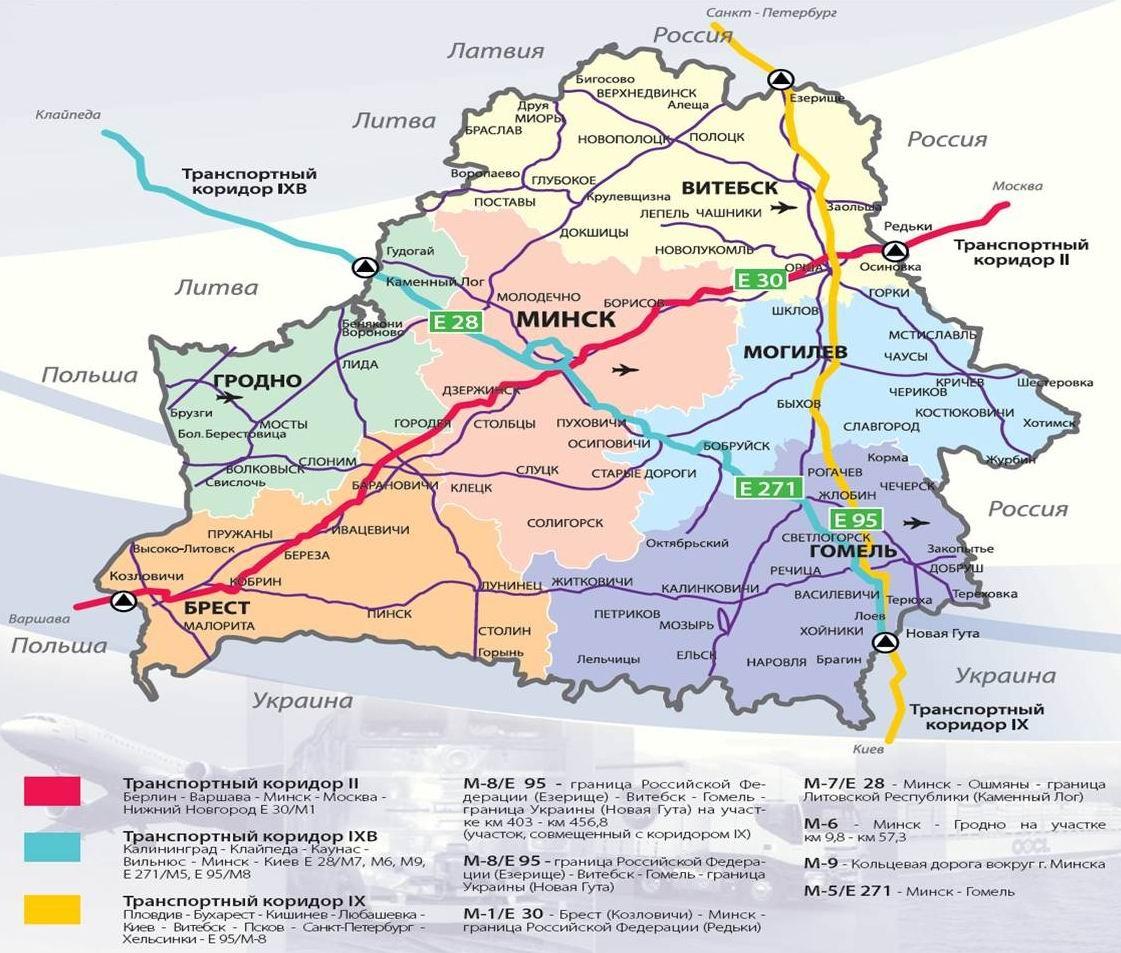 Трассу М1/Е30 Брест-Минск-граница России планируется сделать автобаном 1