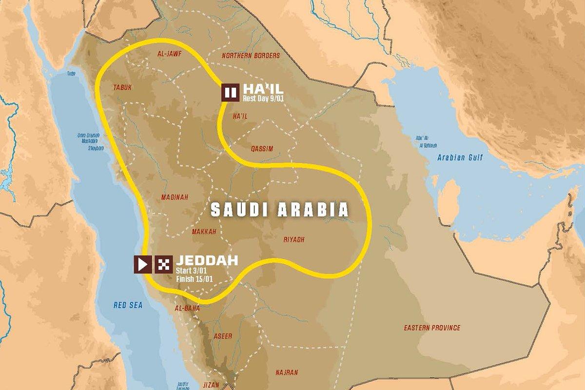 Dakar-2021 стартует 3 января и пройдет по территории Саудовской Аравии 1