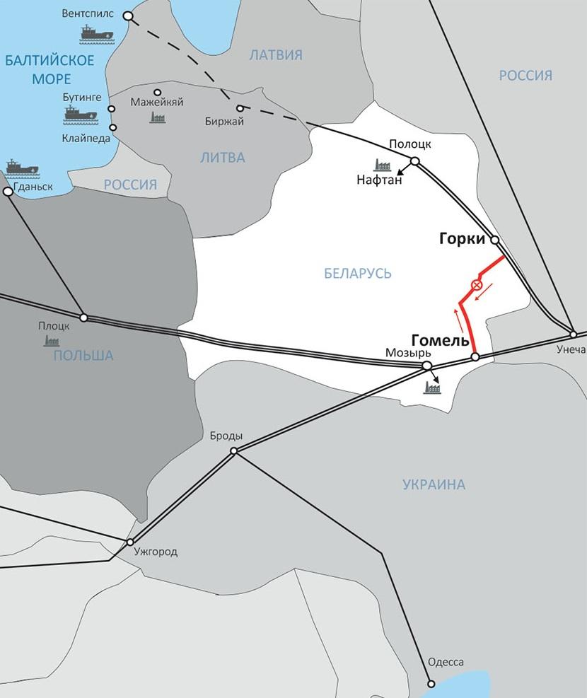 Логистика альтернативных поставок нефти в Беларусь через порты Южный и Клайпеда 5
