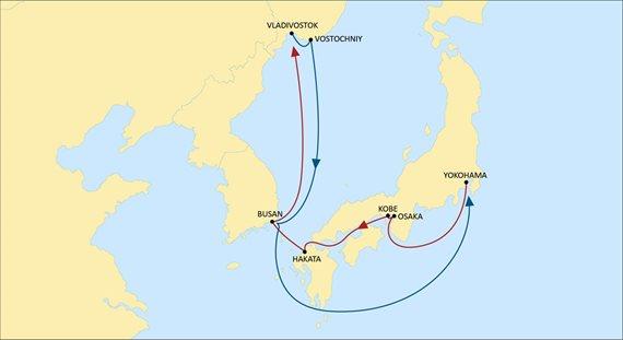 С 30 ноября 2020 г. MSC запустит новый сервис, соединяющий Японию, Корею и дальневосточные порты России 1
